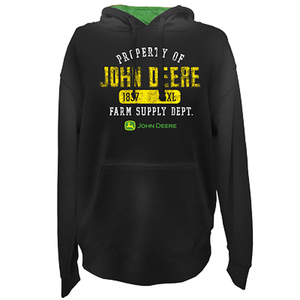 Men's Fleece Hood with the Trademark John Deere Logo