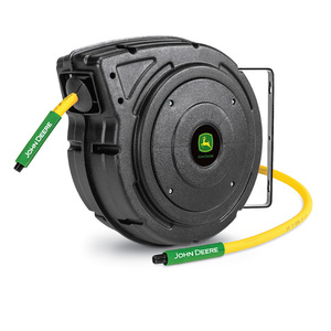 "Retractable Air Hose Reel with 50' x 3/8"" Hybrid Polymer Hose (AT-4803-J)"
