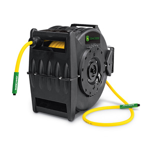 "Professional Retractable Air Hose Reel with 50' x 3/8"" Hybrid Polymer Hose (AT-4804-J)"