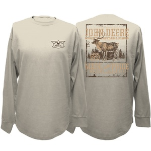 Mens Oatmeal Ls Deer T M-2X, BP