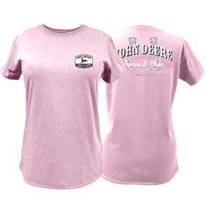 Ladies Pnk Horseshoe T S-2X, BP