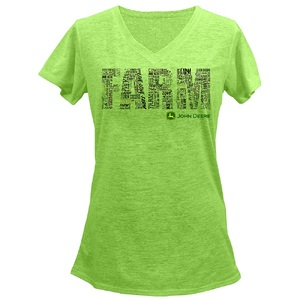 Ladies Apple Farm V Nck T S-2X, BP