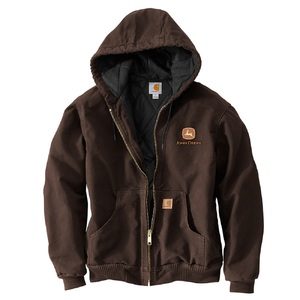 Men's Carhartt Dark Brown Hooded Jacket