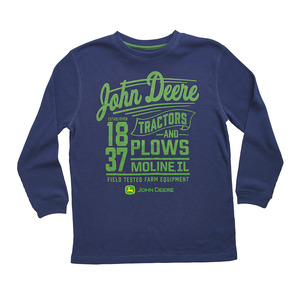 Youth Boys Navy Moline Thermal T-Shirt