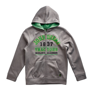 Youth Boys Gray 1837 Zip Hooded Sweatshirt