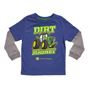 Toddler Navy and Gray Dirt Magnet T-Shirt