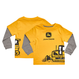 Toddler Yellow and Gray Construction T-Shirt