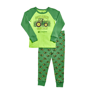 Boys Green John Deere Country Pajamas