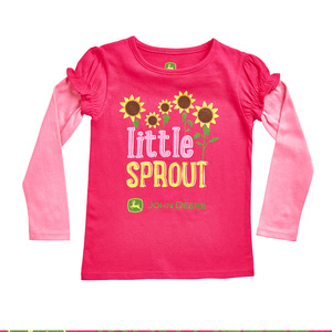 Toddler Magenta Little Sprout T-Shirt