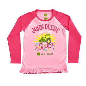 Toddler Pink Happy Long Sleeve Tunic