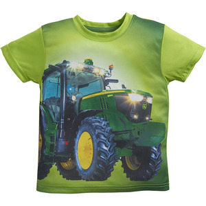 Toddlers Lime Photo Tractor T-Shirt