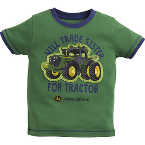 Toddlers Will Trade Sister Navy Trim T-Shirt