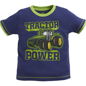 Infants/ Toddlers Tractor Power Navy T-Shirt