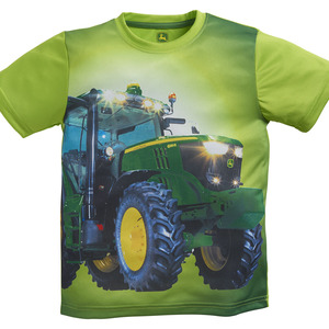 Boys Lime Photo Graphic Tractor T-Shirt