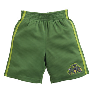 Toddlers Green Mesh Athletic Shorts