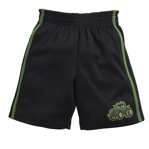 Toddlers Black Mesh Athletic Shorts