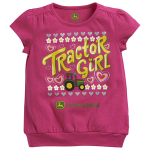 Girls Tractor Girl Banded T-Shirt