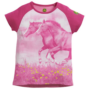 Girls 4-6X Horse Photo Graphic Tunic