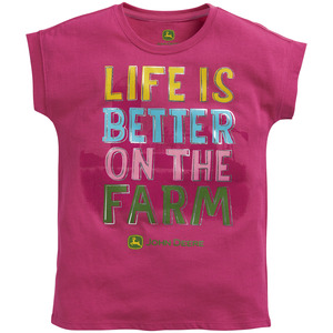 Youth Girls Life Is Better On The Farm T-Shirt