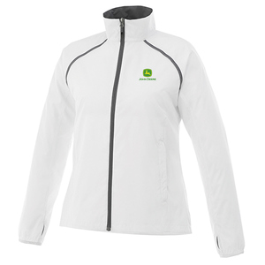 Ladies White Packable Jacket
