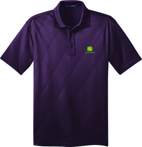 Mens Purple Embossed Polo