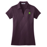 Ladies Purple Embossed Polo