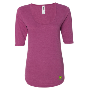 Women's Deep Scoopneck 3/4 Sleeve Tee