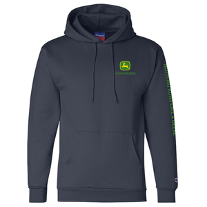 Mens Navy Eco Hooded Sweatshirt