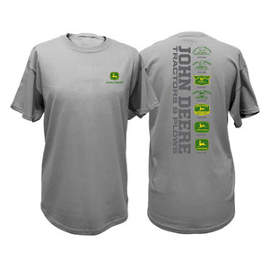 Men's Gray Historical Logos Tee