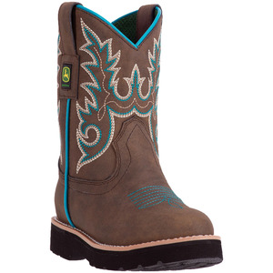 Child Round Toe Turquoise Boot