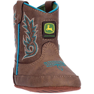 Crib Round Toe Turquoise Trim Boot