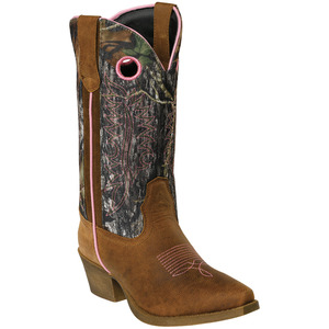 Womens Mossy Oak And Pink Pull On Boot