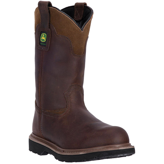 Men's Brown Pull On Work Boot