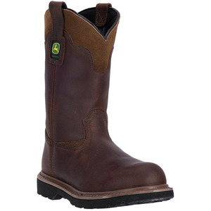 Mens Brown Pull On Work Boot