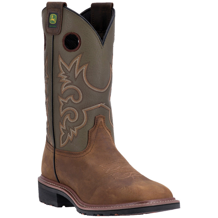 Men's Western Tan and Olive Work Boot