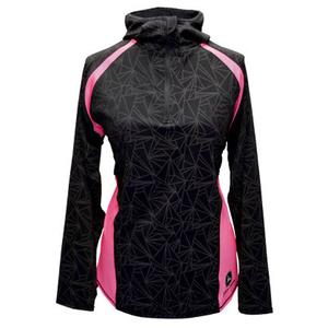 Womens Black 1/4 Zip Poly Hood