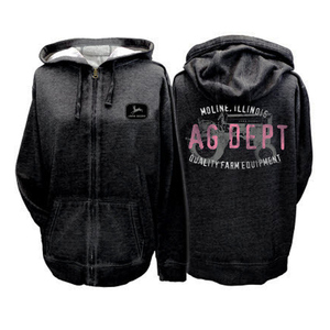 Womens Black AG Dept Zip Hood
