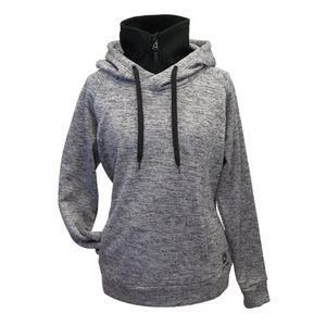 Womens Charcoal Poly Hoodie
