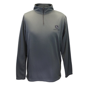 Men's Charcoal Quarter Zip Poly Pullover