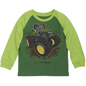 Green and Lime Mud Tractor Tee