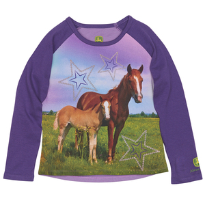 Purple Star Two Horses Tee