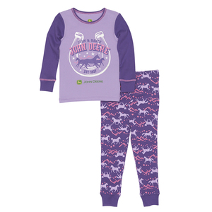 Purple Horses Pajama Set