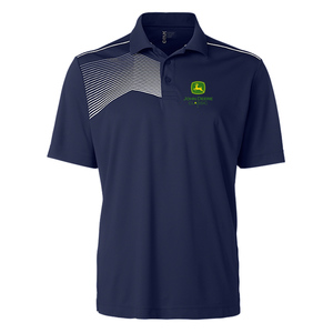 Mens John Deere Classic Navy Golf Shirt