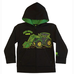 Tractor with Loader Zip Up Hoodie