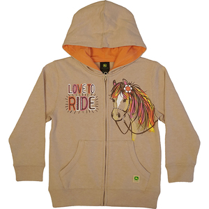 Love To Ride Zip Up Fleece Hoodie
