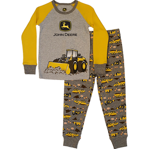 "<img src=""under construction pajamas.jpeg"" alt=""Long sleeved pajama set with tractor on shirt and pants"">"