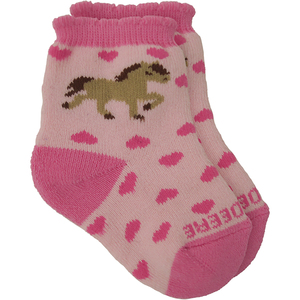 Pony and Hearts Crew Socks
