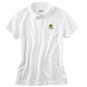 Women's Nike White Pebble Texture Polo