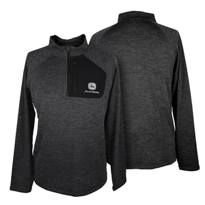 Unisex Charcoal Poly 1/4 Zip Jacket