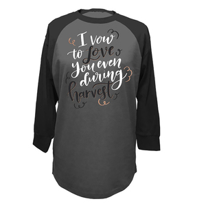 Charcoal Harvest Love Jersey Tee